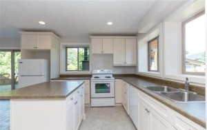 Kitchen with optional Island. Appliances installed by owner